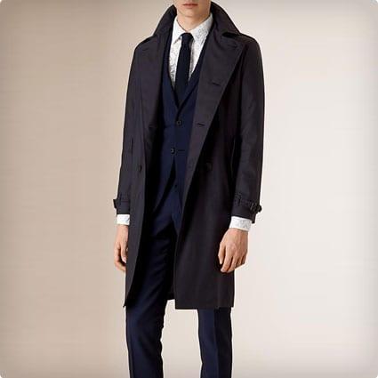 Silk Wool Trench Coat