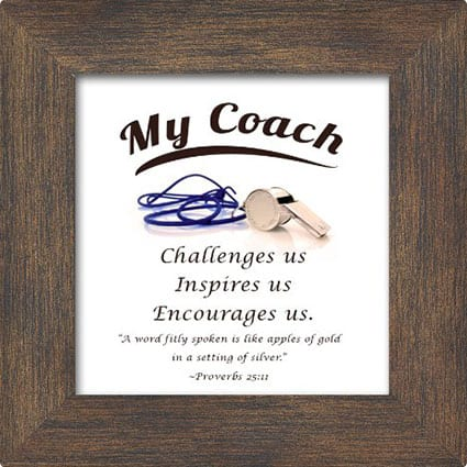Coach Appreciation Plaque