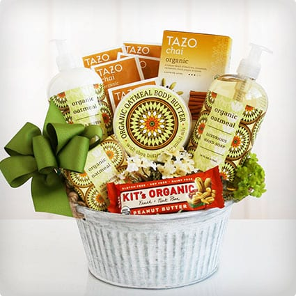 Organic Oatmeal Spa Basket
