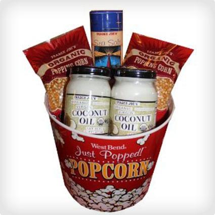 Organic Popcorn Basket