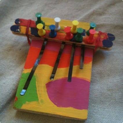 Popsicle Stick Thumb Piano