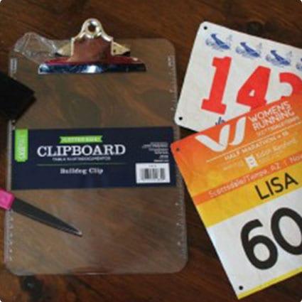 Race Bib Clipboard
