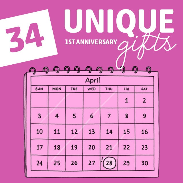 34 Unique First Anniversary Gifts To Celebrate Year One