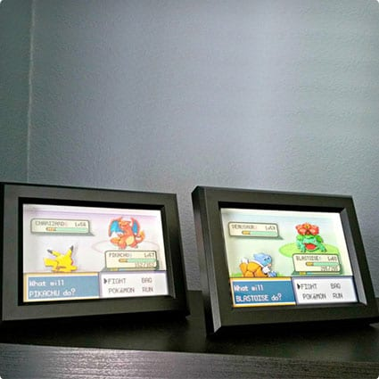 Customizable Pokemon Battle Scene Shadowbox