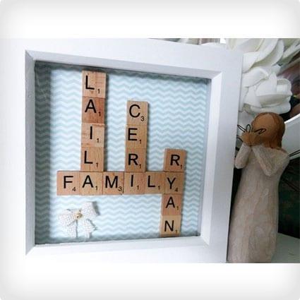 Personalized Scrabble Art