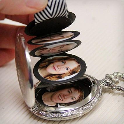 Pocket Watch Photo Album