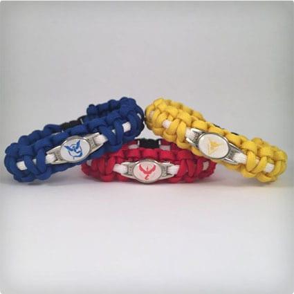 Pokemon GO Team Paracord Bracelets