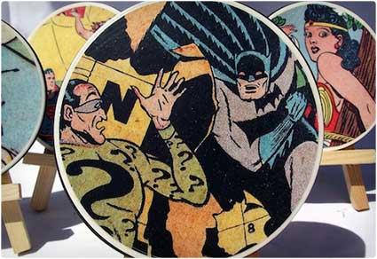 Comic Book DIY Coasters