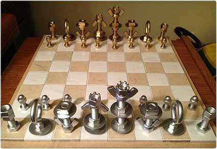 MacGyver-Style Chess Set