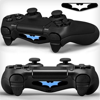 2x Playstation 4 Light Bar Decals Batman