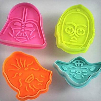 4 Piece Star Wars Cookie Cutter