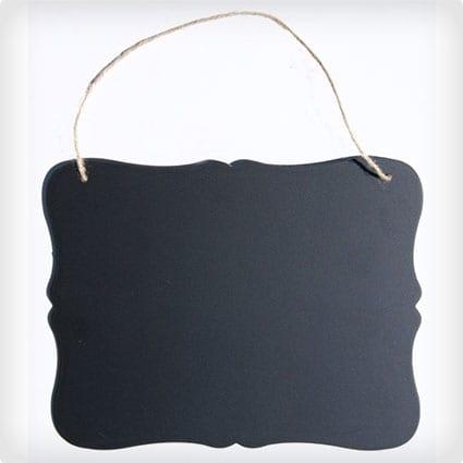 Schwarzes Vintage Art-Tafel-Anschlagbrett