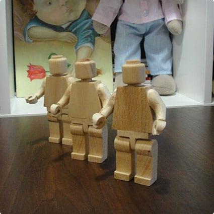 9cm Big Lego Man, Wooden Custom Lego Figure