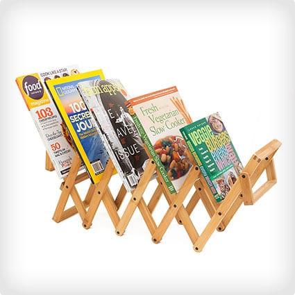 Accordion Magazine Rack