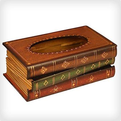 Antique Book Tissue Holder