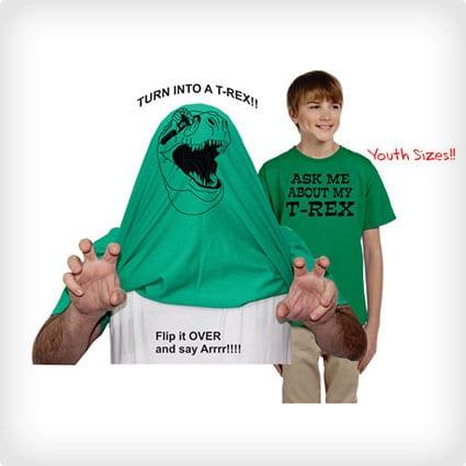 Ask Me About My T Rex Kids Shirt