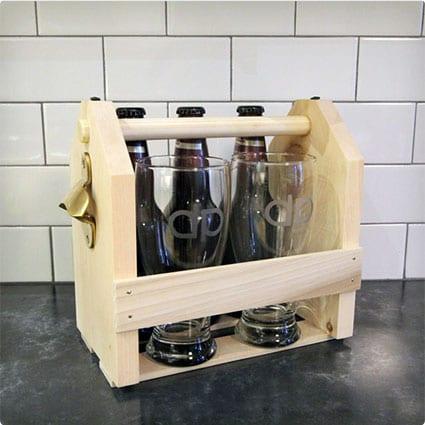 Beer Glasses & Carrier