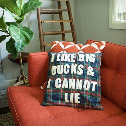 Big Bucks Pillow