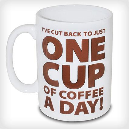 "BigMouth ""One Cup of Coffee"" Giant Mug"