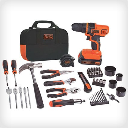 Black + Decker 20-Volt Lithium-Ion Drill and Project Kit