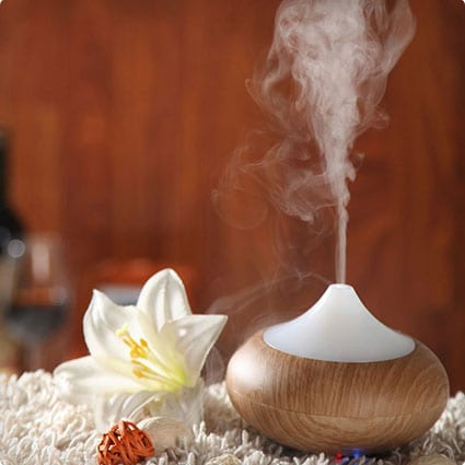 Bluefire Wood Grain Electric Aromatherapy Essential Oil Diffuser