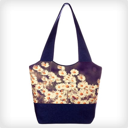 Camomile Print Bag - Blue