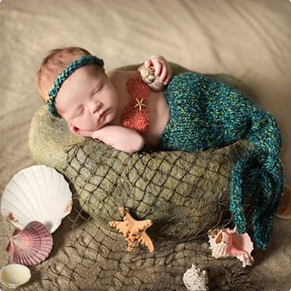Child Mermaid Tail Blanket Pattern