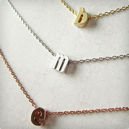 Childrens Initial Necklace