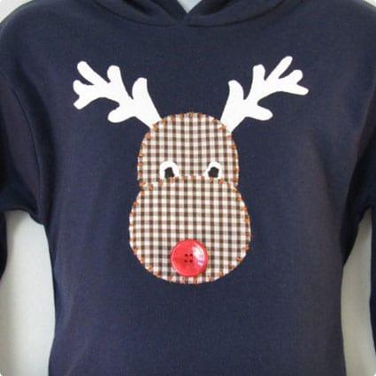 Christmas sweater - Kids Rudolph Hoodie