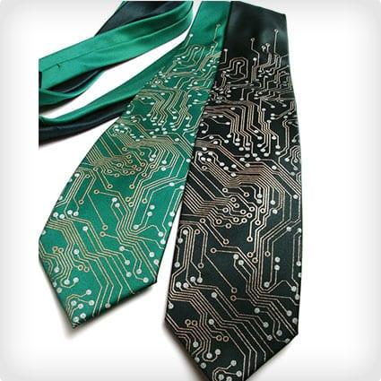 Circuit Board Silk Necktie