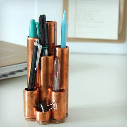 Copper Pipe Desk Tidy