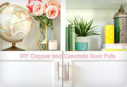 Copper and Concrete Door Pulls