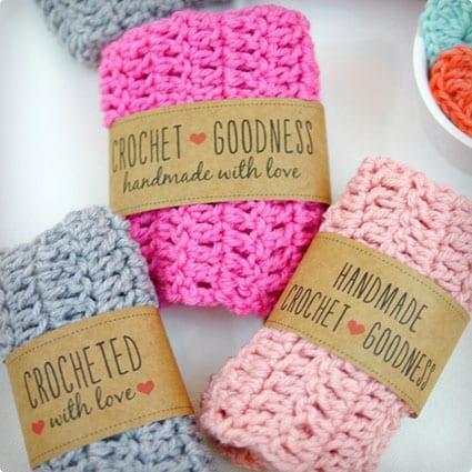 Crochet Craft Labels