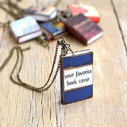 Custom Book Necklace