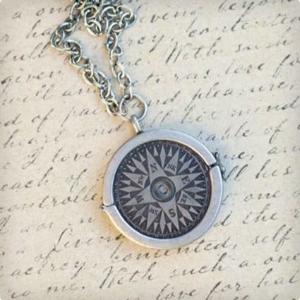 DIY Compass Necklace