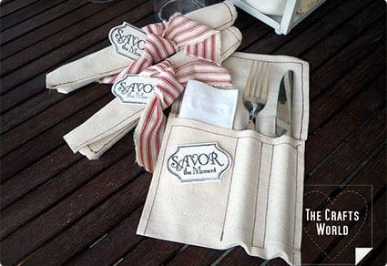DIY Cutlery Pockets