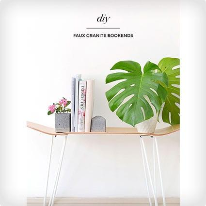 DIY Faux Granite Bookends