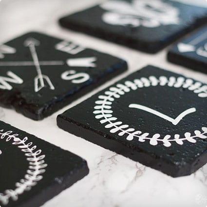 DIY Framhouse Style Coasters