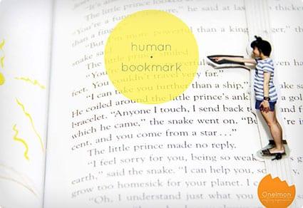 DIY Human Bookmark
