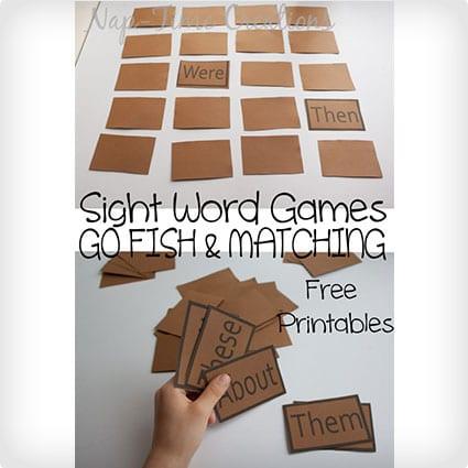 DIY Sight Word Games