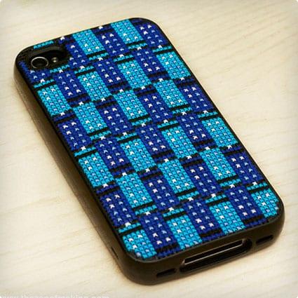 DIY Tardis Tessellating Iphone Cover