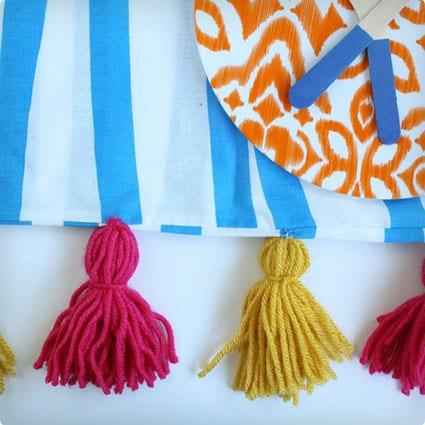 DIY Tassle Picnic Blanket