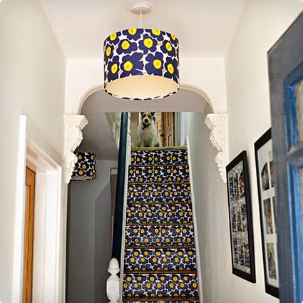DIY Wallpaper Lampshade