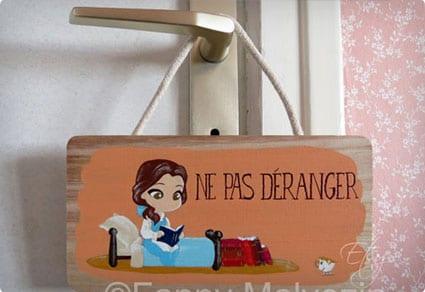 Do Not Disturb Belle Reading Sign