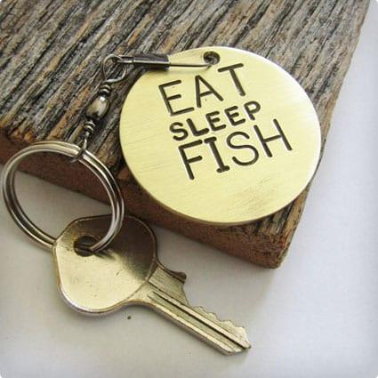 Eat Sleep Fish Key Chain