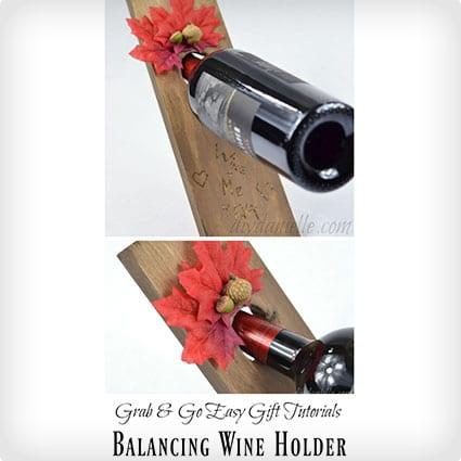 Fall-Themed Balancing Wine Holder