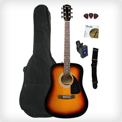 Fender FA-100 Dreadnought Acoustic Guitar Bundle