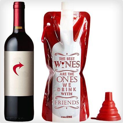 Flexible, Unbreakable Wine Bottle