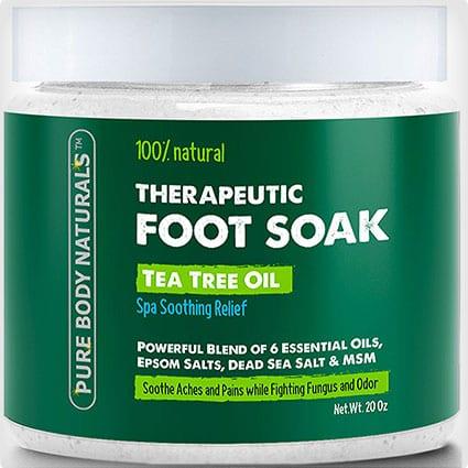 Foot Soak with Tea Tree Oil and Epsom Salt