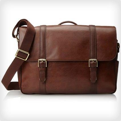 Fossil Men's Estate Saffiano Leather Messenger Bag